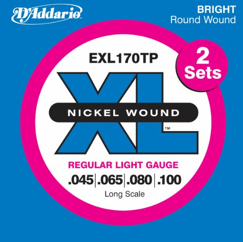 D'Addario EXL170TP Nickel Wound Bass Guitar Strings,