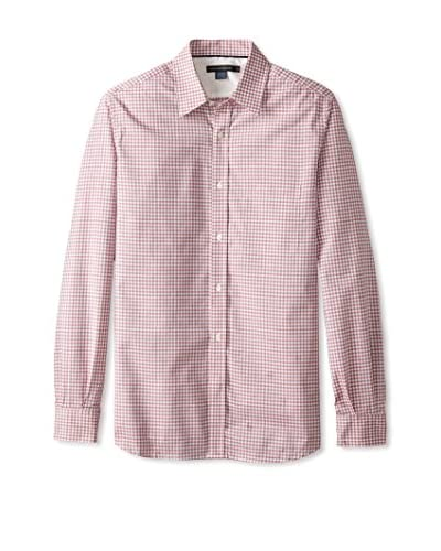 French Connection Men's Colorful Gingham Long Sleeve Shirt
