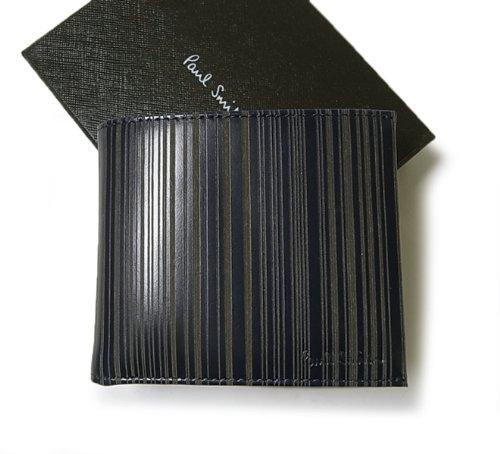 (ポールスミス) Paul Smith 二つ折財布(ブルー+マルチストライプ) AKXA 1033 W502 PA-1017