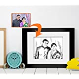 Fathers Day | Gift For Father | Birthday Gift For Father | Photo Frame(11x9)inch With Personalized Photo(7x5)inch...
