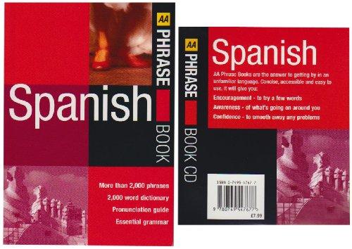 AA Spanish Phrase Book and CD (AA Phrase Book & CD)