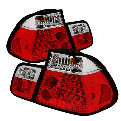 Spyder Auto Alt-Yd-Be4602-4D-Led-Rc Bmw E46 3-Series 4-Door Red/Clear Led Tail Light
