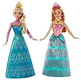 Disney Princesses - Bdk37 - Poupée Mannequin - Reine des Neiges - Coffret Duo Anna Et Elsa