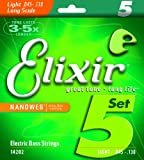 Elixir Strings Nanoweb Light Bass Strings (5-St .045-.130)