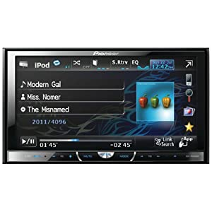 """Pioneer AVH-P4400BH 2-DIN Multimedia DVD Receiver with 7"""" Widescreen Touch Panel Display, Built-In Bluetooth, and HD Radio™ Tuner by Pioneer"""
