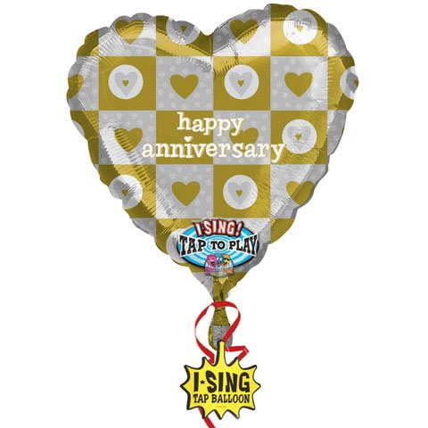 Amscan International Happy Anniversary Baby Jumbo Sing-A-Tune Foil Balloon