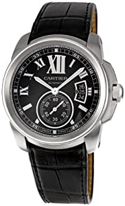 Cartier Men's W7100041 Calibre de Cartier Leather Strap Watch
