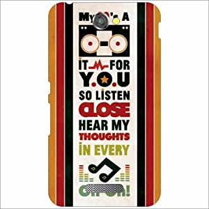 Sony Xperia E4 Back Cover - Hear My Thoughts Designer Cases