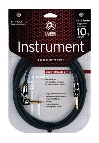 Planet Waves Circuit Breaker Instrument Cable, 10 feet