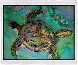 CafePress Sea Turtle nature art Throw Blanket - Standard Multi-color