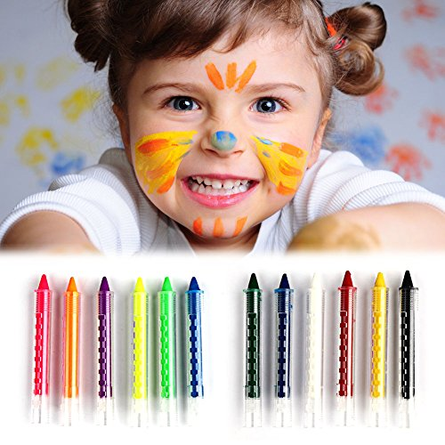 Face Body Painting Crayon 6 Colours Kit Set Sticks Party Wedding Kids Childrens (Darth Maul Face Paint)