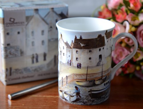Cornish Harbour Fine Bone Mug In Gift Box