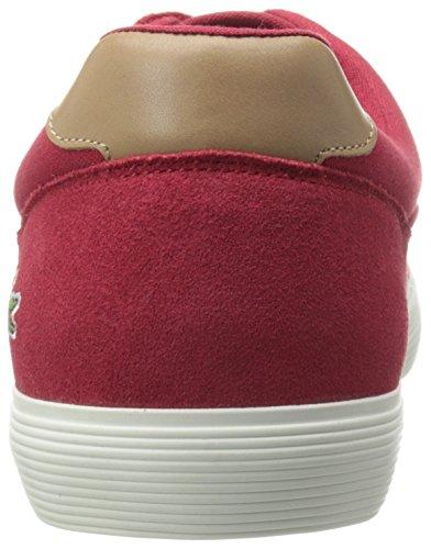 Lacoste Men's Jouer 316 1 Cam Fashion Sneaker, Red, 8 M US
