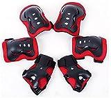 Meta-color negro y blanco 6 piezas de los ni�os/juego de copas de Protectora de engranaje de-2 de cuchilla para patines de + almohadillas de molestias en el codo + almohadillas de 2 de la mu�eca 2 almohadillas de la rodilla de, color rosso, tama�o ta