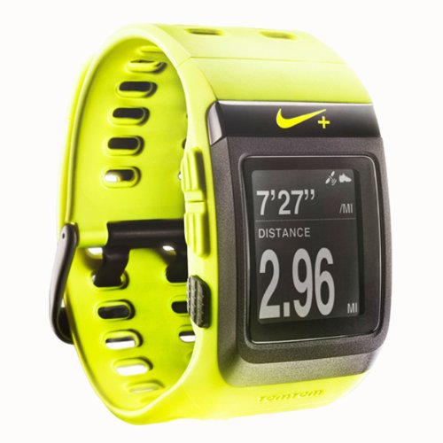 Nike+ SportWatch GPS Powered by TomTom (Volt/Black) Running Gps