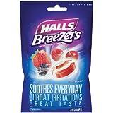 Halls Breezers Pectin Throat Drops Cool Berry -- 25 Drops