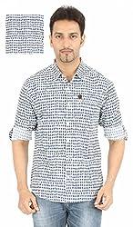 Spykar Printed Casual Shirt(Size:L)
