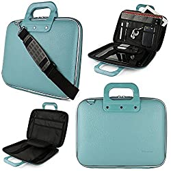 SumacLife Cady Executive Collection Semi Hard Protective Carrying Case with Removable Shoulder Strap for 11-12in Laptops, MacBook Air, MacBook 12in, ASUS, Dell, Lenovo, Sony, HP 11.6in Laptops (Blue)