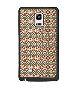 PrintDhaba Heart Pattern D-1598 Back Case Cover for SAMSUNG GALAXY NOTE 4 EDGE (Multi-Coloured)
