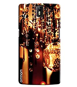 Omnam Glass Crystal And Other Decorative Items Hanging Printed Designer Back Cover Case For One Plus One
