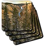 cst_97611_1 Danita Delimont - Yellowstone - Lower Yellowstone Falls, Grand Canyon, Wyoming USA - US51 TFI0043 - Tim Fitzharris - Coasters - set of 4 Coasters - Soft