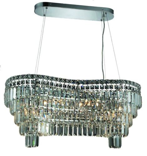 Elegant Lighting 2019D32C/Rc Maxim 13-Inch High 14-Light Chandelier, Chrome Finish With Crystal (Clear) Royal Cut Rc Crystal front-681518