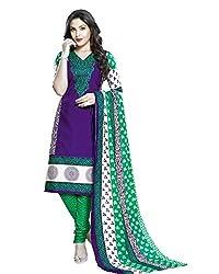 Neerja creation womens cotton Unstiched Dress material(K-2002_Purple)