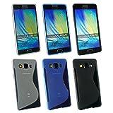 Emartbuy Samsung Galaxy A5 Ultra Sottile Case Cover Custodia In Gel Set Di 3 - Blu, Chiaro & Nero