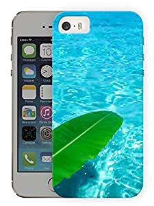 "Humor Gang Water And Leaf Printed Designer Mobile Back Cover For ""Apple Iphone 5-5S"" (3D, Matte, Premium Quality Snap On Case)"