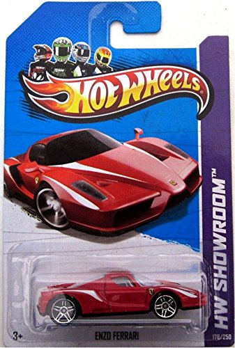 ENZO FERARRI Hot Wheels 2013 HW SHOWROOM Series 1:64 Scale Collectible Die Cast Car Model #178 - 1