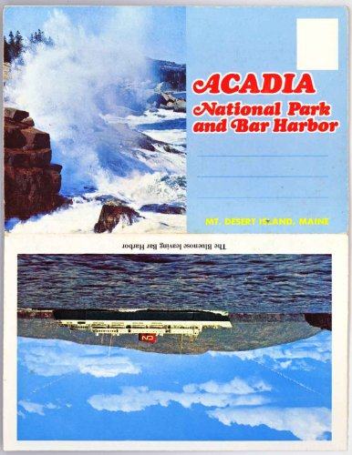 Acadia National Park & Bar Harbor (Mt. Desert Island Maine) (1960'S Souvenir Postcard Folder) #Laf518