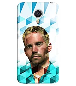 Omnam Paul Walker In Prism Effect Printed Back Cover Case For Meizu M3 Note