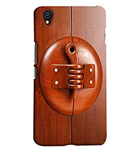 Blue Throat Wooden Lockn Printed Designer Back Cover/ Case For OnePlus X