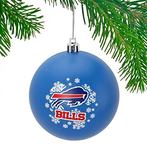 Buffalo Bills Royal Blue Shatter-Proof Snowflake Ball Ornament walk of shame топ