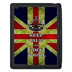 Skin4gadgets Keep Calm and ROCK N ROLL - Colour - UK Flag Tablet Designer BLACK SMART CASE for APPLE IPAD 4