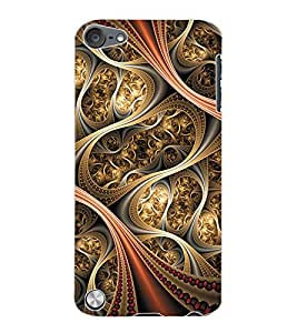 ColourCraft Beautiful Pattern Design Back Case Cover for APPLE IPOD TOUCH 5