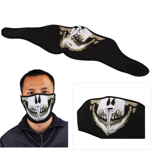 Polartec Biker Motorcycle Skiing Skull Punk Half Face Mask Facemask