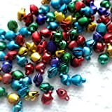 Beading Station 100-Piece Jingle Bell for X'mas, Small, Multicolor