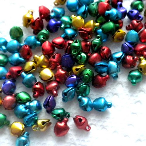 100pcs Mix Colorful Small Jingle Bell for X'mas ~Jewelry Findings~
