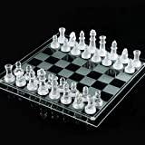 """[Amaterasu] use as Crystal Chess clear & Frost (transparent and thin white) All glass chess set 35cm ~ 35cm oversized drama """"buddy"""" Movie props [MT069]"""