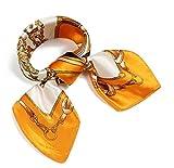 (ロージー)Rosy* 【シルク風 アンティーク調 スカーフ】お洒落 正方形 ツイリー バッグ シュシュ ヘッドドレス ベルト ブレスレット 巻き方 アレンジ自由 トレンド or