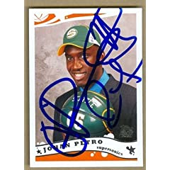 Johan Petro Autographed Hand Signed Basketball Card (Seattle Sonics) 2005 Topps #245