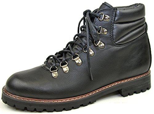 【アパレルバズ】 APPAREL BUZZ SELECT メンズ カジュアル マウンテンブーツトレッキングシューズ サイドジップ カジュアルブーツ カジュアルシューズ 靴 glbb-032 ブラック L (27.0cm~27.5cm)