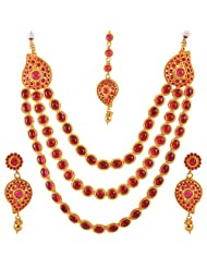 Jewel Mart Antique Necklace Red For Women JMNS004