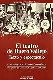 img - for El teatro de Buero Vallejo, texto y espectaculo: Actas del III Congreso de Literatura Espanola Contemporanea, Universidad de Malaga, 14, 15, 16 y ... literarios. Ensayo) (Spanish Edition) book / textbook / text book