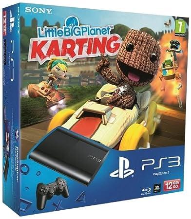 Console PS3 Ultra slim 12 Go noire + Little Big Planet : Karting (30 euros remboursés en plus)