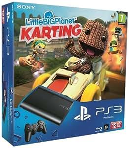 Console PS3 Ultra slim 12 Go noire + Little Big Planet : Karting