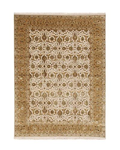 Jaipur Rugs Hand-Knotted Oriental Pattern Rug, Ivory/Yellow, 2' x 3'