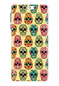 Noise Designer Printed Case / Cover for Lyf Earth 2 / Patterns & Ethnic / Skull Stripes Design