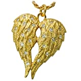 Cremation Jewelry: Gold-Plated Sterling Silver My Angel Companion Urn